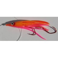 R&K Hoochie Orange/Pink  2 1/2""