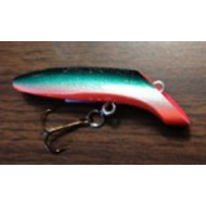"Lyman's Handmade Wooden Lure 3"" Fatties Red Throat"