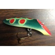 "Lyman's Handmade Wooden Lure 3"" Fatties Red Dot Frog"