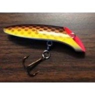 "Lyman's Handmade Wooden Lure 3"" Fatties Brown Trout"