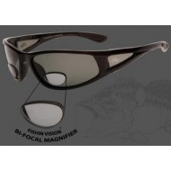Fishin Vision Bi-Focal Window 150 Magnifier Sunglasses Black