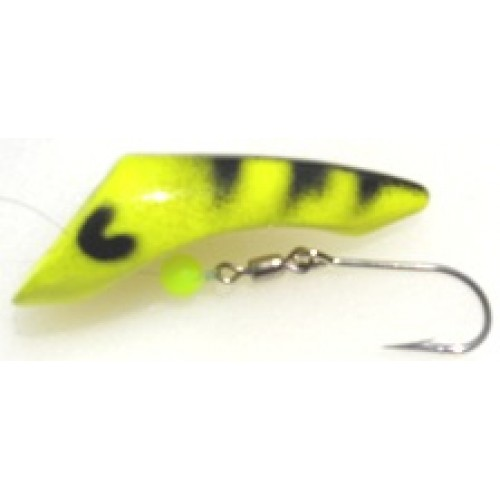 Gvf draggin chartreuse tiger trolling lure for Chartreuse fishing lures