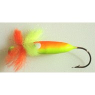 Ken's Custom Tackle Hairy Bug Chartreuse Orange