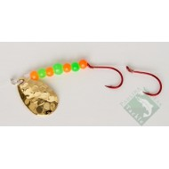 Paulina Peak Gold Plated Orange & Green Spinner