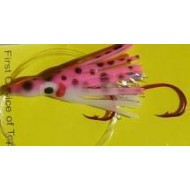 Vance's Tackle Micro Hoochie Speckled Hot Pink UV