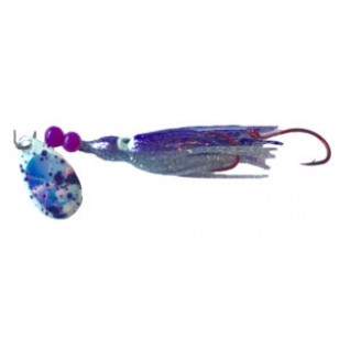 Rocky Mountain Tackle Super Squid Spinner UV Purple Moon Splatter 1.5""