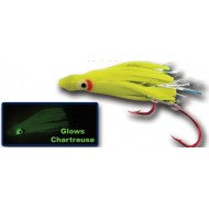 Vance's Tackle Micro Hoochie Chartreuse Glow