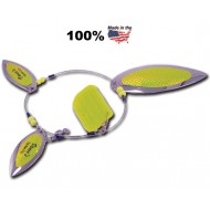 Vance's Slim Willie Flashers 3 Blade Lil Slim Willie Nickel/Chartreuse Scale