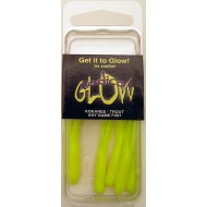 Radical Glow Hoochie Tube Pack Chartreuse 1.5 Inch 5 / Pack