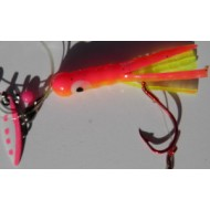 Glitter Bugs Tube Bug with Indiana Silver Blade Hot Pink 1 1/2""