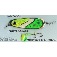 GVF Dodger/Lure Combo Dbl. Sided Chartreuse/Green 4.25""