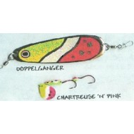 GVF Dodger/Lure Combo Dbl. Sided Chartruese/Pink 4.25""