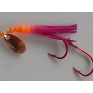 Glitter Bugs Micro Hoochie w/Indiana Copper Blade Orange/Purple 1 3/8""