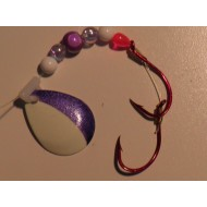 Glitter Bugs Custom Spinner White Purple Blade