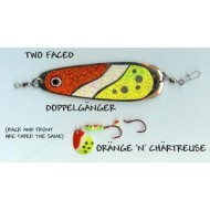 GVF Dodger/Lure Combo Dbl. Sided Chartruese/Orange 4.25""
