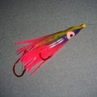 Crystal Basin Hoochie Purple/Pink/Chartreuse